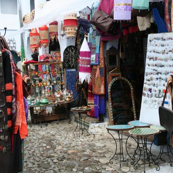 Artesanía en la ciudad de Chefchaouen