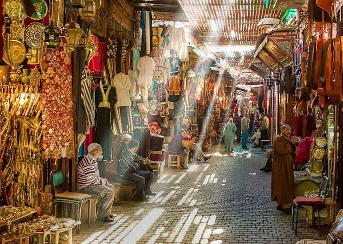 Dentro De La Medina De Marrakech