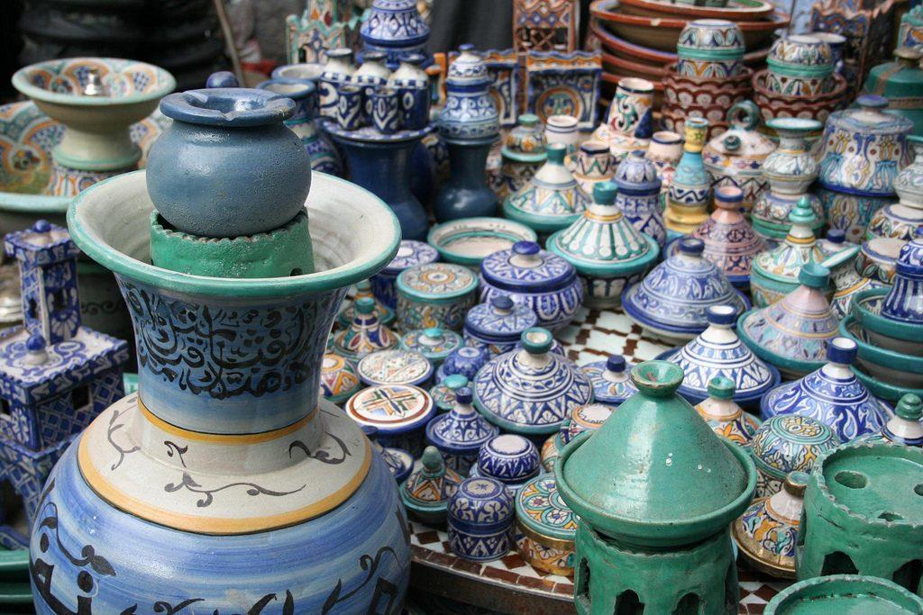 Cerámica Tradicional De La Zona Norte De Marruecos