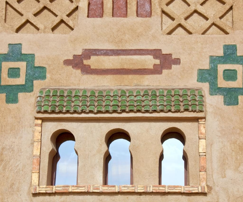Decoración De La Pared De Una Kasbah Marroquí