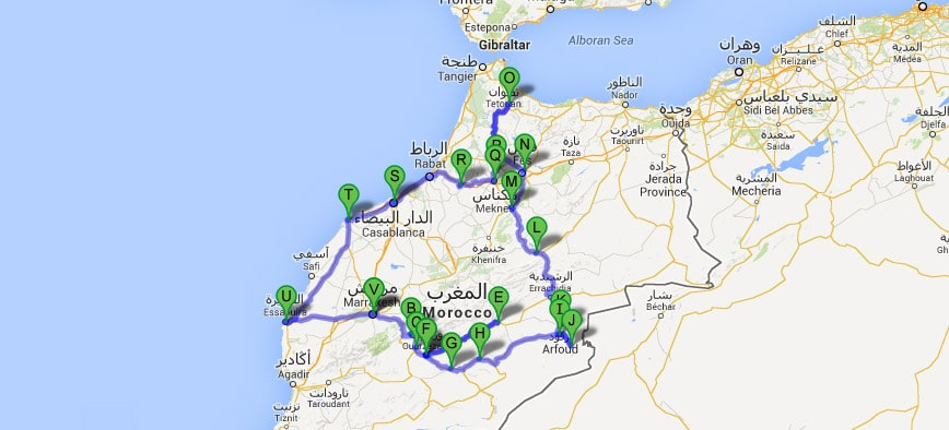 Essaouira y ouarzazate