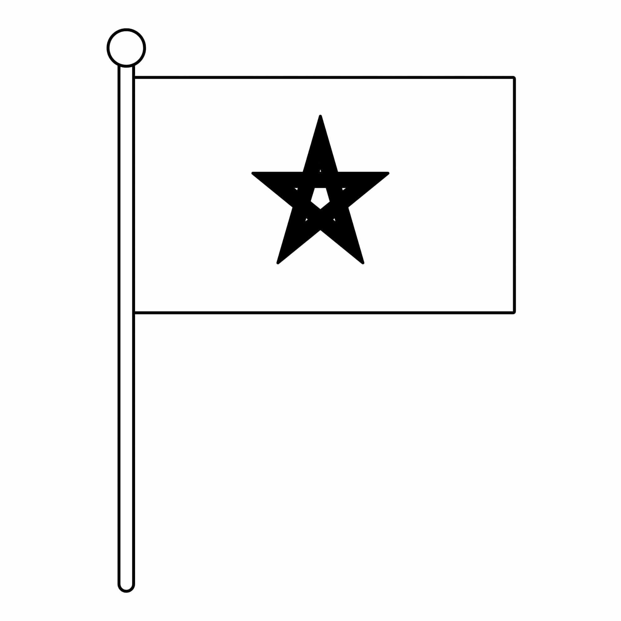 Bandera de Marruecos para colorear