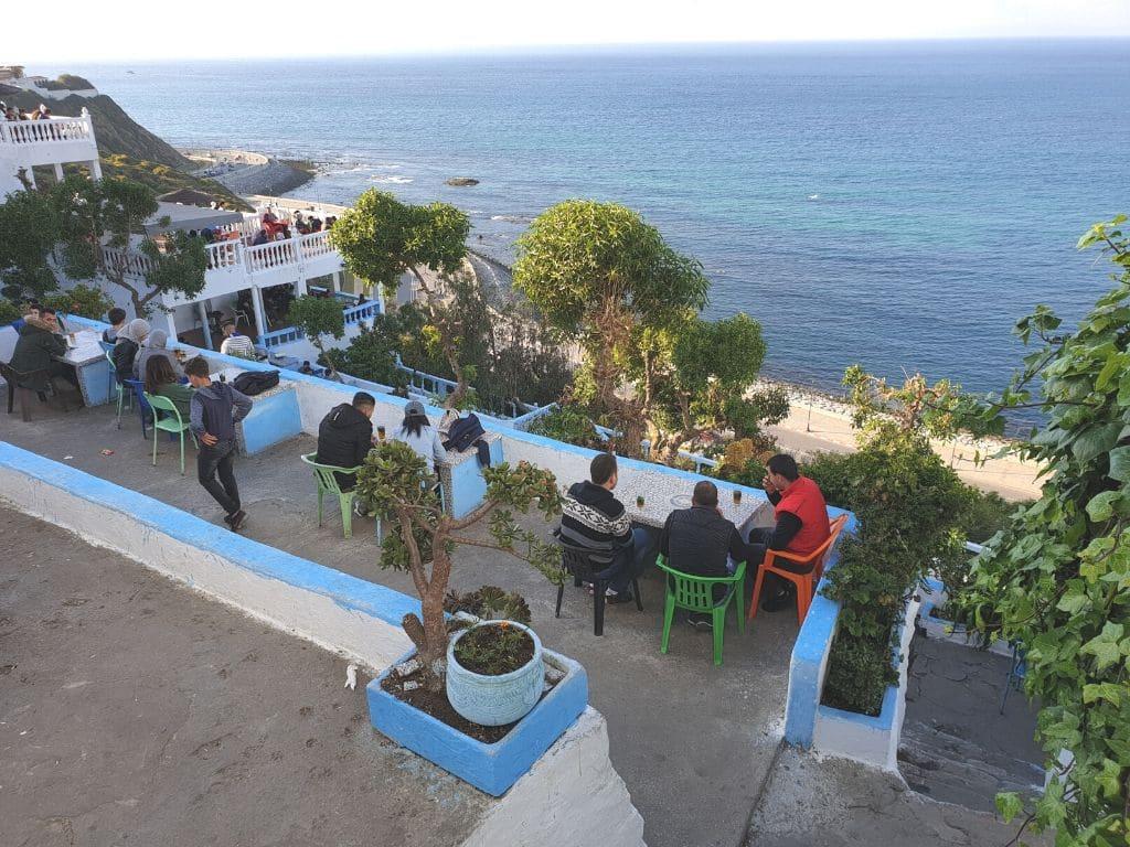 Cafe Hafa en Tanger Marruecos