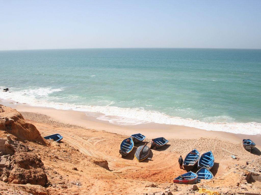 Costa atlántica Dajla Marruecos