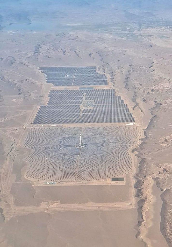 Estacion de energia solar de Ouarzazate en Marruecos