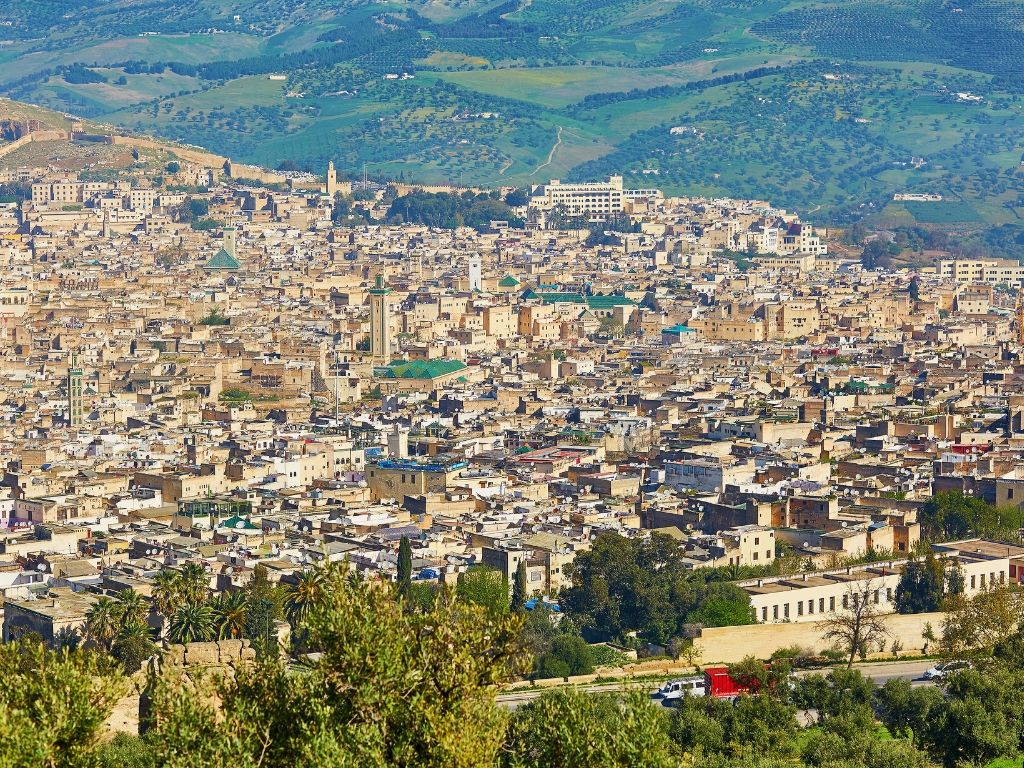 Las vistas panorámicas de Fez