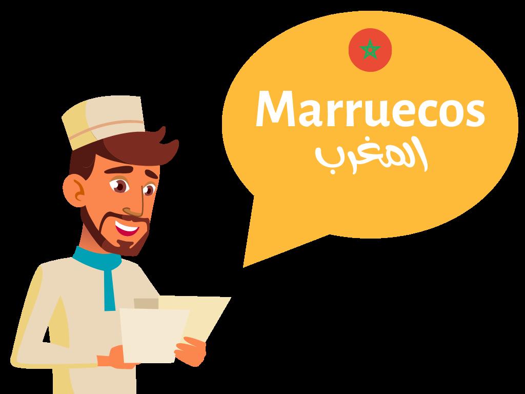 Hombre que habla de Marruecos como destino de viaje