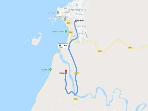 Ruta Essaouira-Diabat en Marruecos