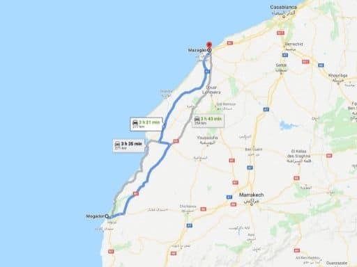 Ruta Essaouira-El Jadida en Marruecos