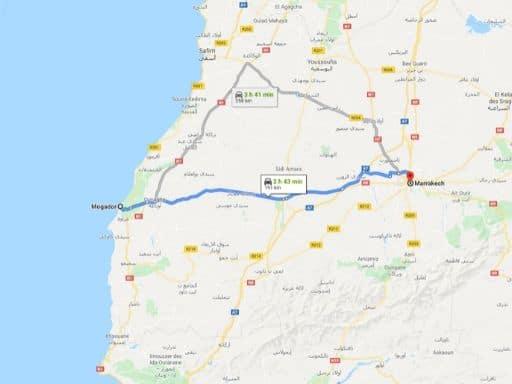 Ruta Essaouira-Marrakech en Marruecos