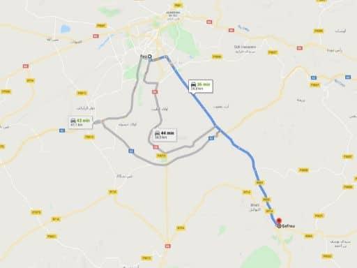 Ruta Fez Sefrou en Marruecos
