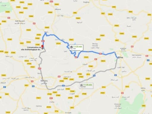 Ruta Fez Volubilis en Marruecos