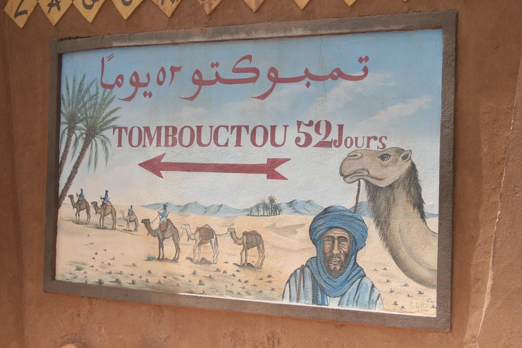 52 días de viaje hasta Timbuktu desde Zagora en Marruecos