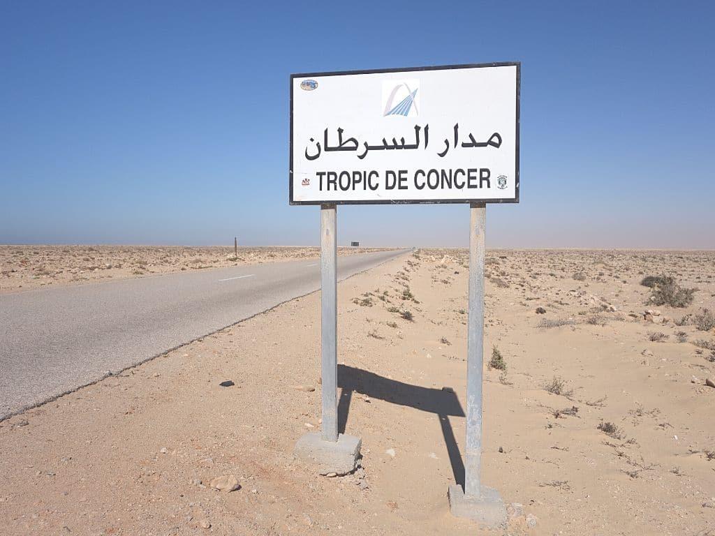 Tropico de Cancer en Marruecos