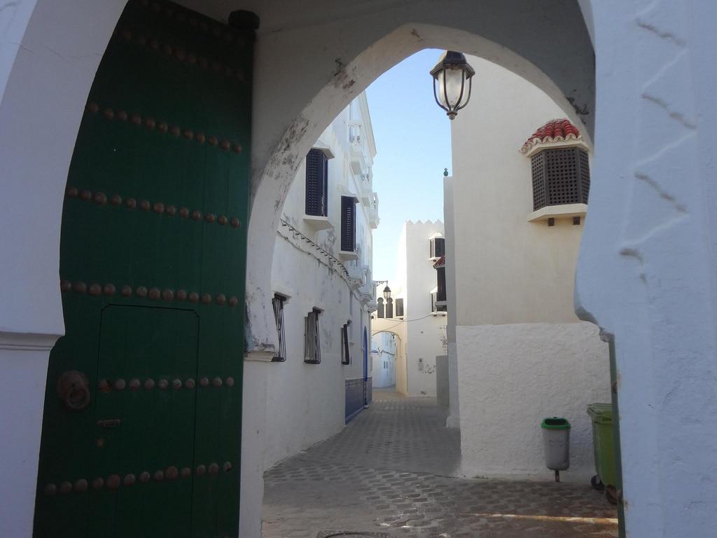 Puerta en la ciudad de Asilah