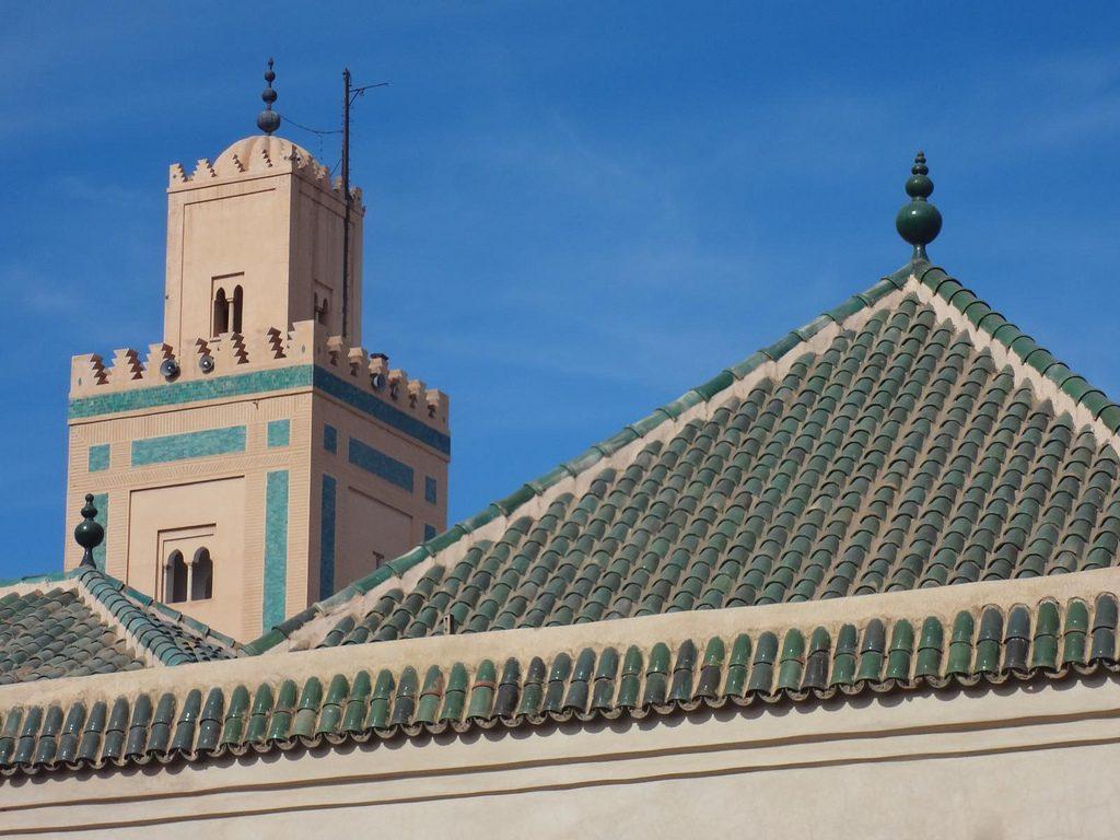 Arquitectura De Una Mezquita En Marrakech