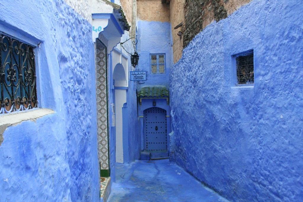 Calle azul en Chefchaouen