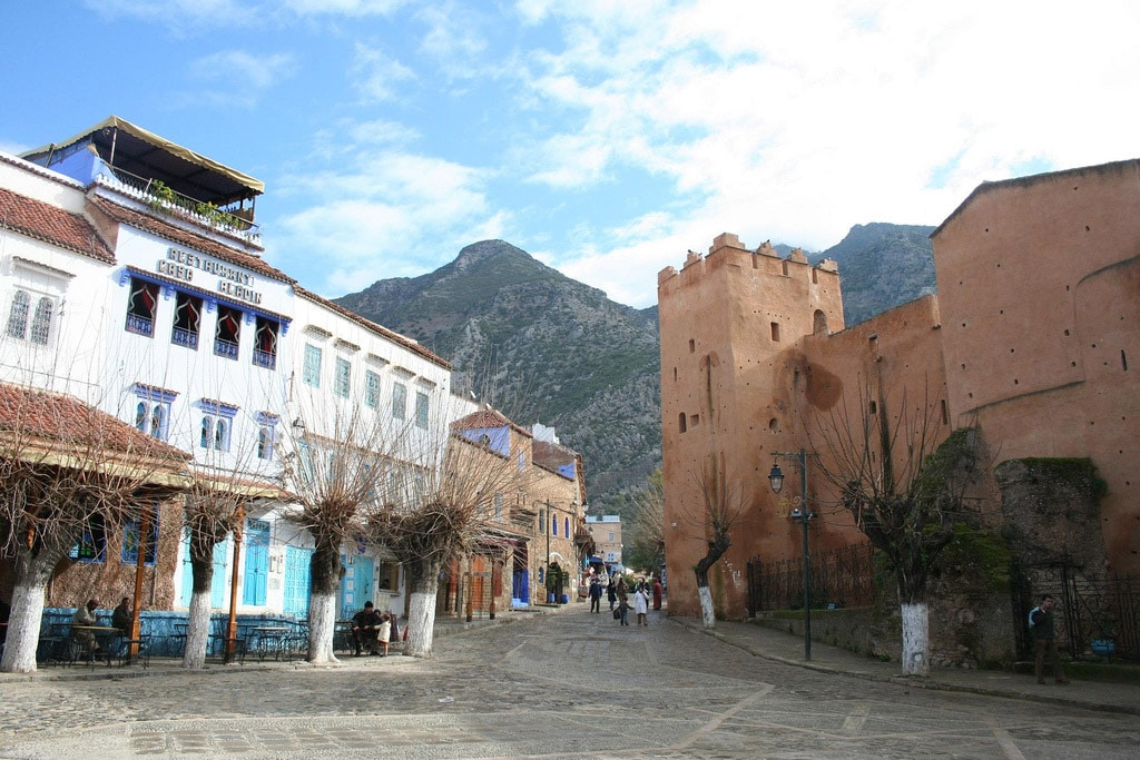 Centro De Chefchaouen En Marruecos