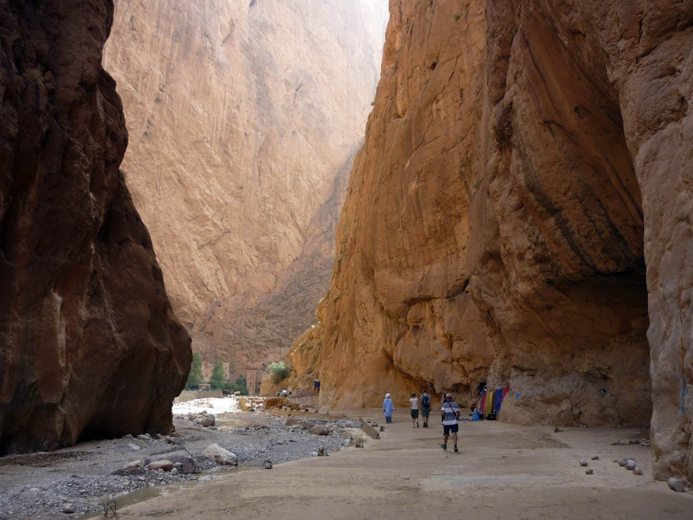 Gargantas del Todra en Marruecos