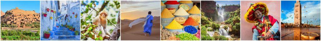 Instagram de Marruecos con fotos diferentes de lugares turisticos