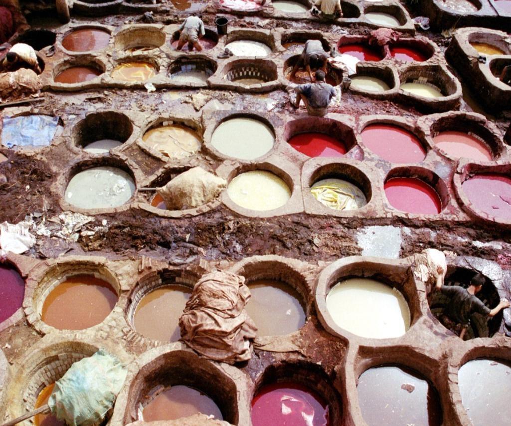 Trabajadores En Las Tenerías En Fez