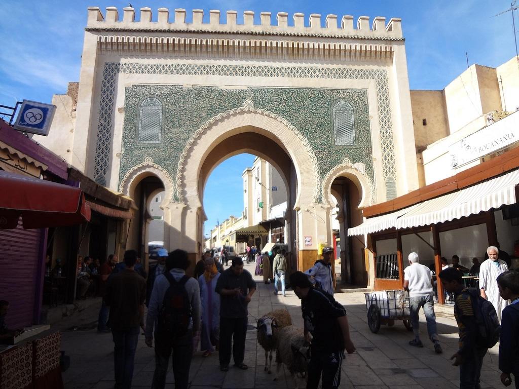 Puerta de entrada en la Medina de la ciudad de Fez en Marruecos