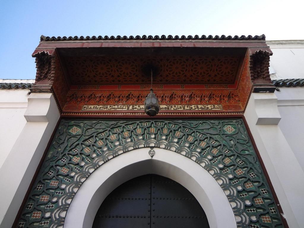 Puerta de Mezquita en Tanger