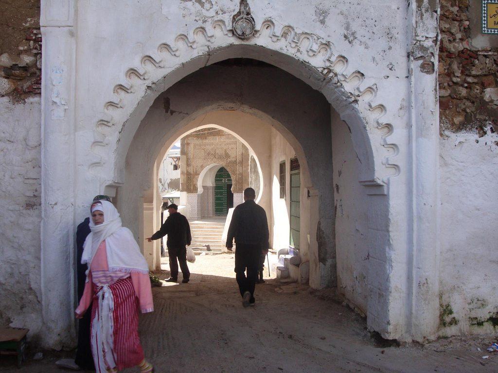 Puerta De Entrada En La Medina De La Ciudad De Tetuan En Marruecos