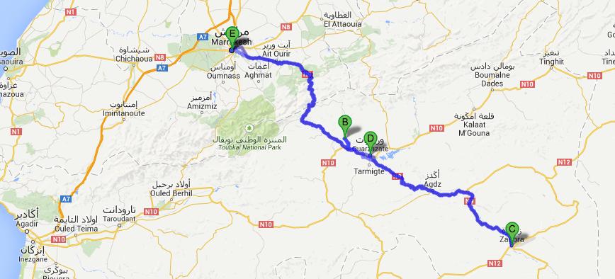 Ruta Marrakech y Desierto de Zagora 5 días