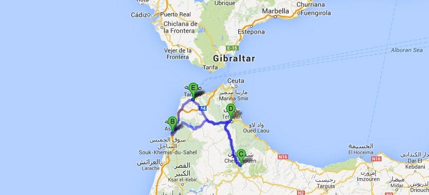 Ruta Tánger, Tetuán y Chefchaouen 4 días