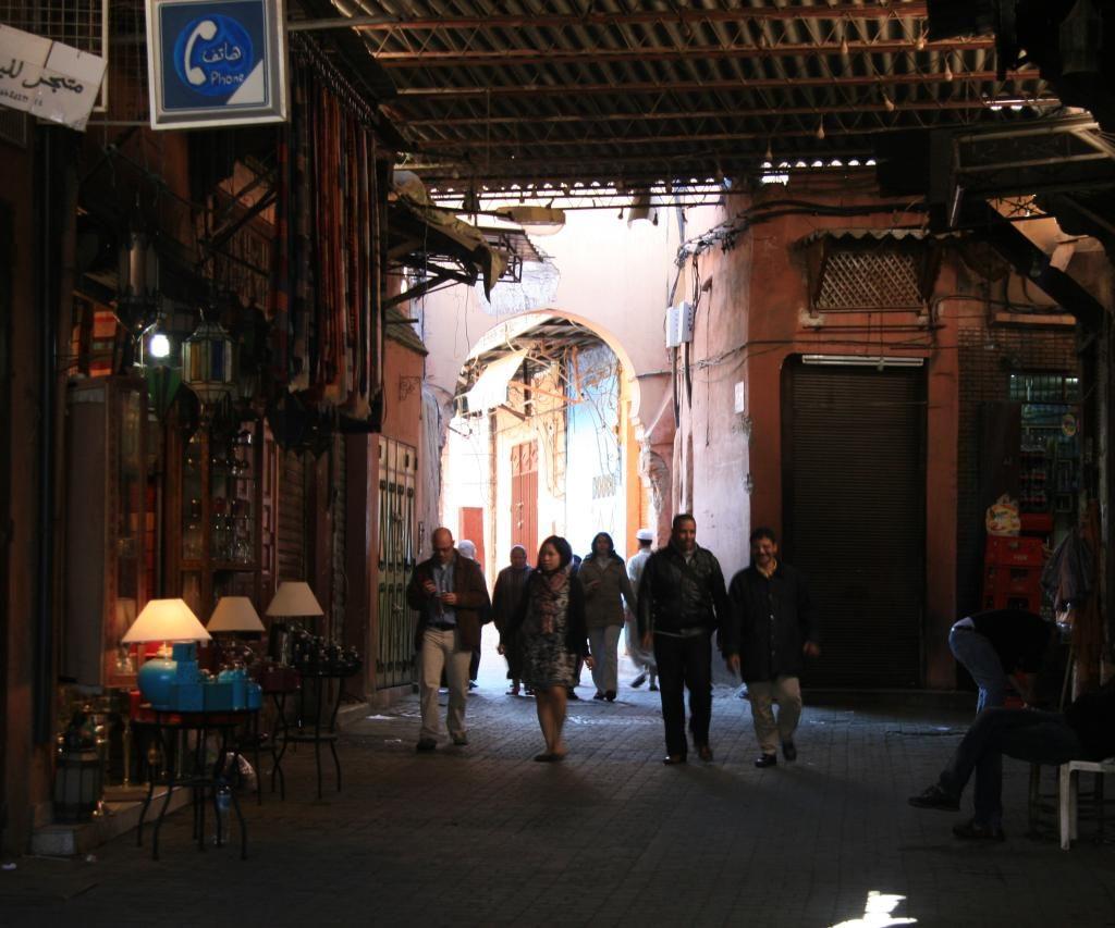 Dentro Del Zozo De La Ciudad De Marrakech